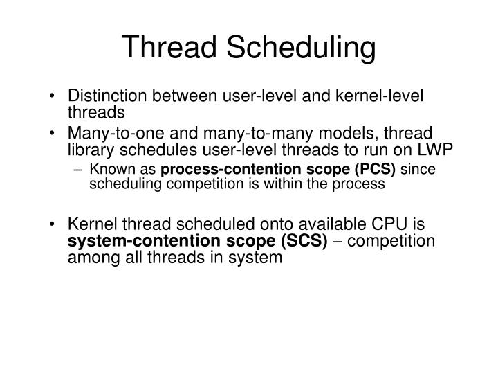 Thread Scheduling