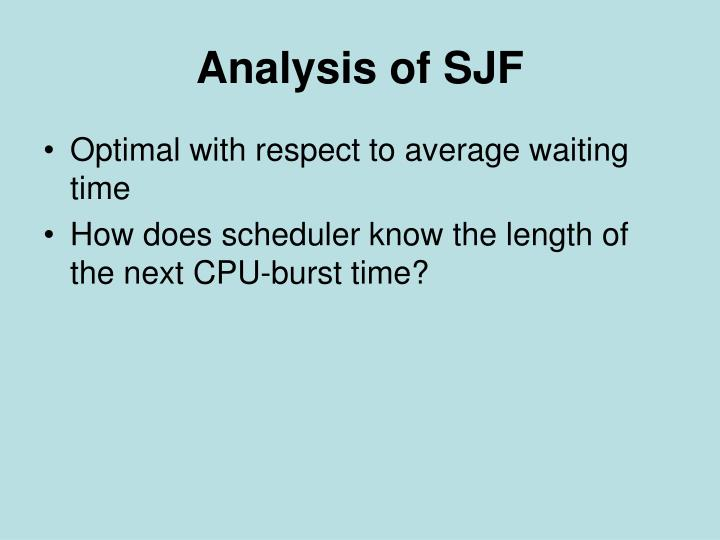 Analysis of SJF