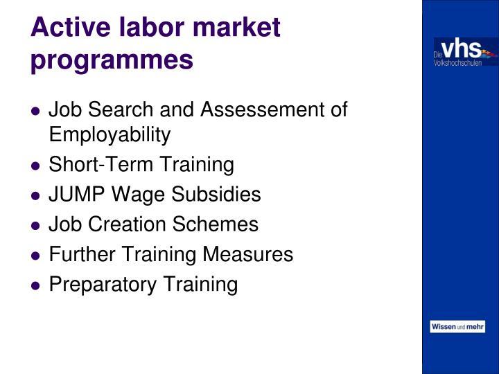 Active labor market programmes