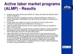 active labor market programs almp results