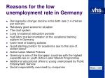 reasons for the low unemployment rate in germany