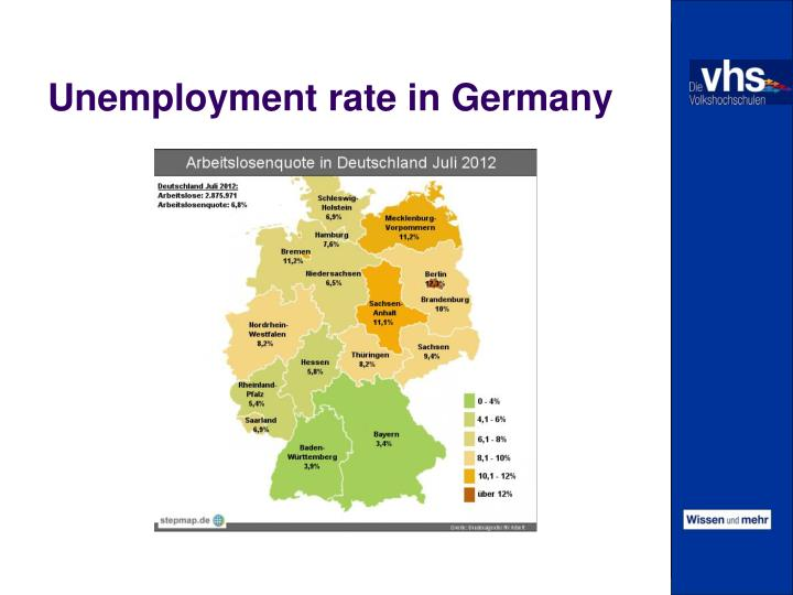 Unemployment rate in Germany