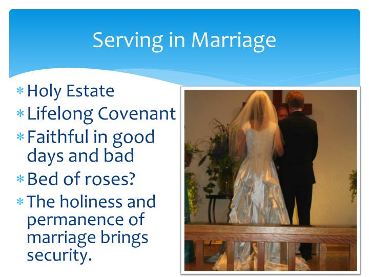 Serving in Marriage