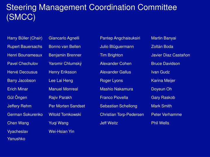 Steering Management Coordination Committee  (SMCC)