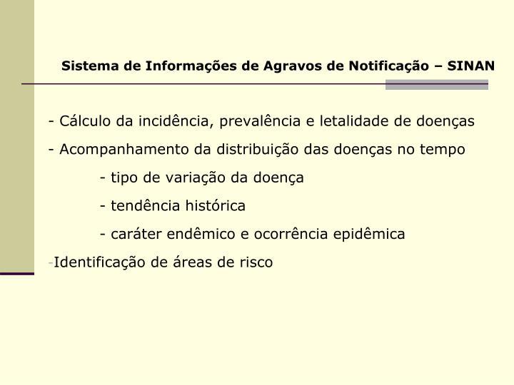 Sistema de Informações de Agravos de Notificação – SINAN