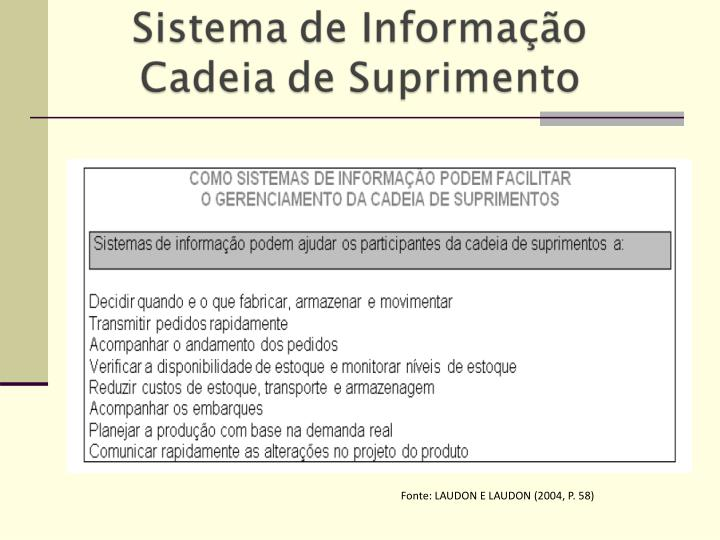 Fonte: LAUDON E LAUDON (2004, P. 58)