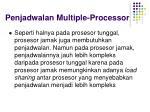 penjadwalan multiple processor