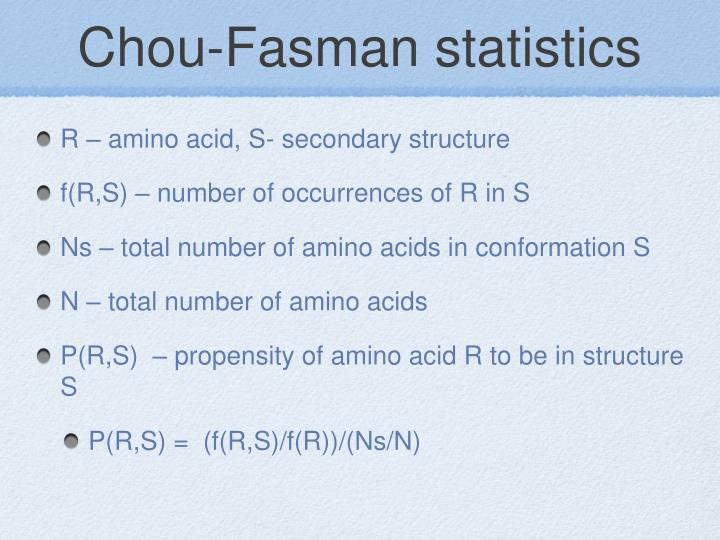 Chou-Fasman statistics
