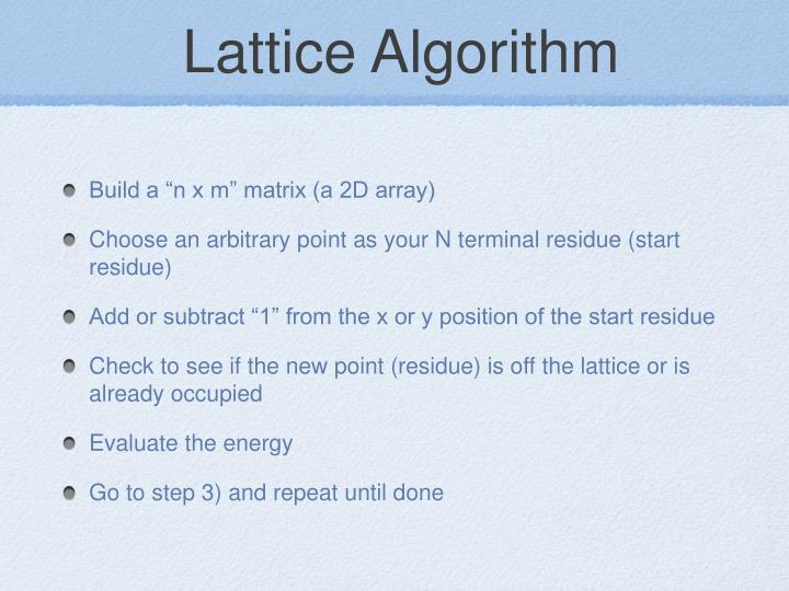 Lattice Algorithm