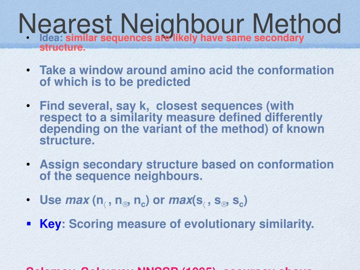 Nearest Neighbour Method