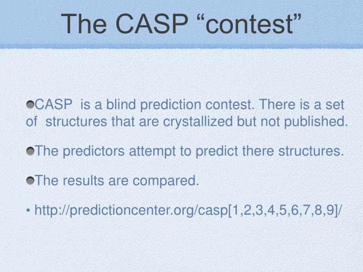 "The CASP ""contest"""