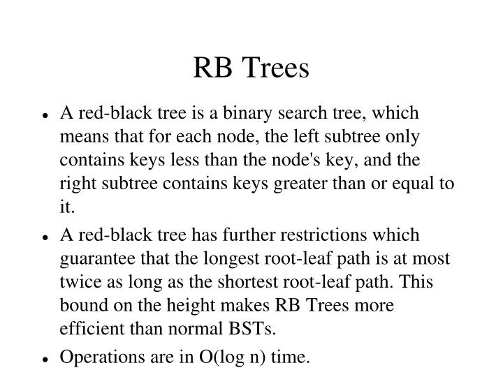 RB Trees