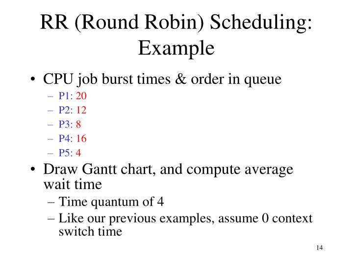 RR (Round Robin) Scheduling: Example