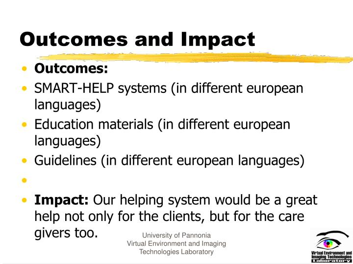 Outcomes and Impact