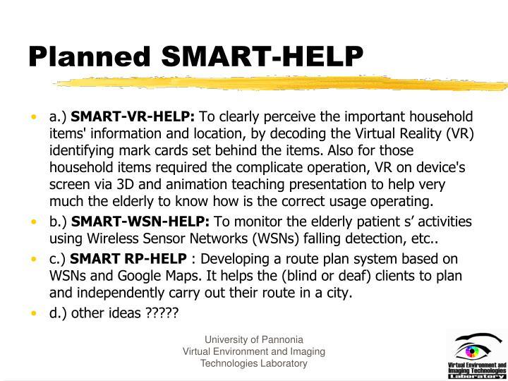 Planned SMART-HELP