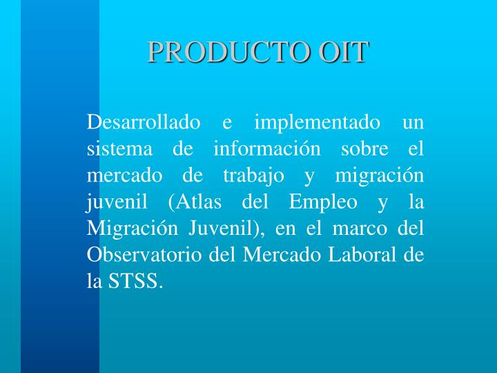 PRODUCTO OIT