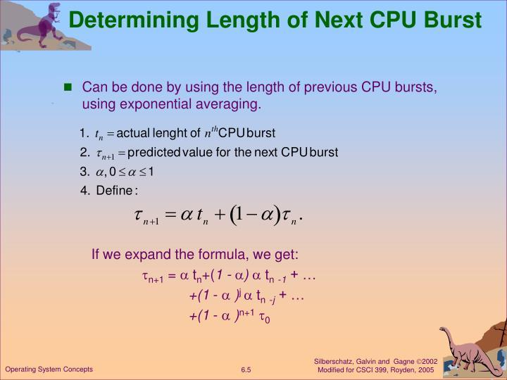 Determining Length of Next CPU Burst