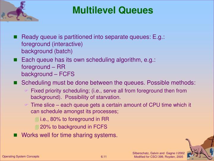 Multilevel Queues
