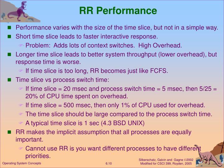 RR Performance