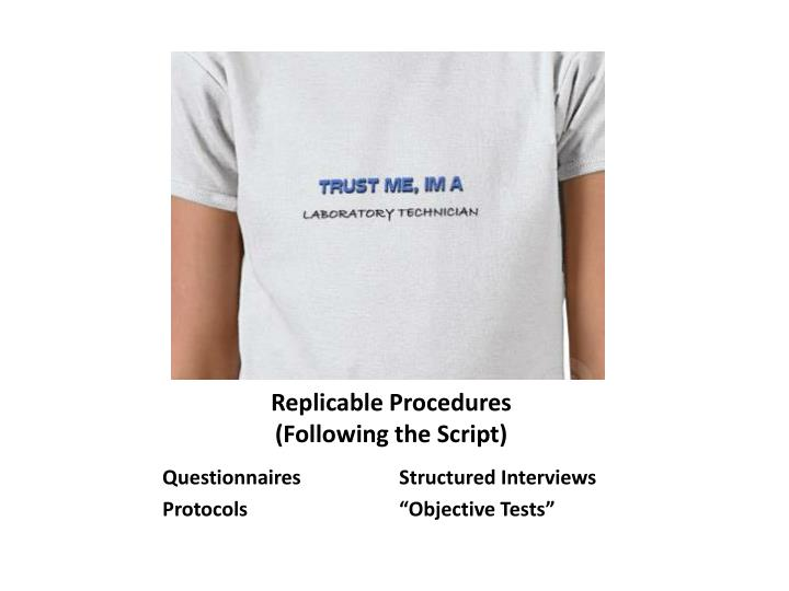 Replicable Procedures
