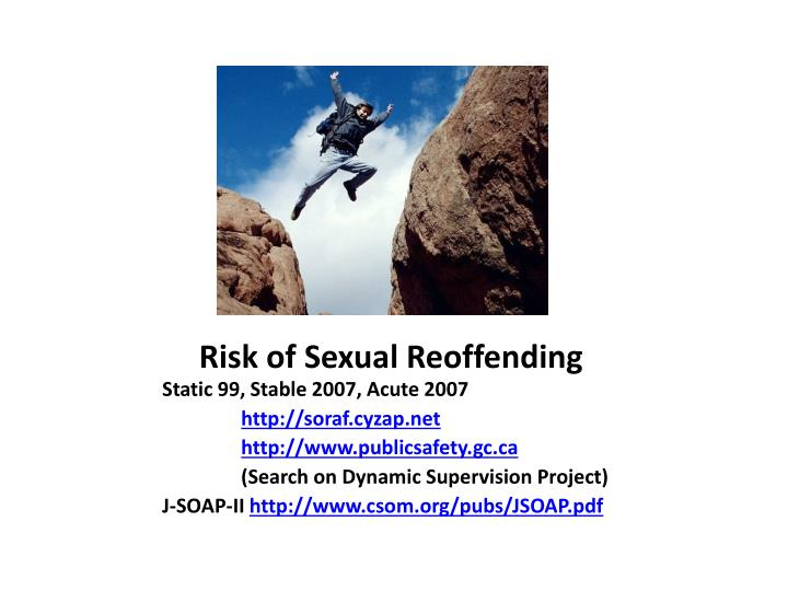 Risk of Sexual Reoffending