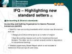 ifq highlighting new standard setters 2