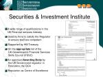 securities investment institute