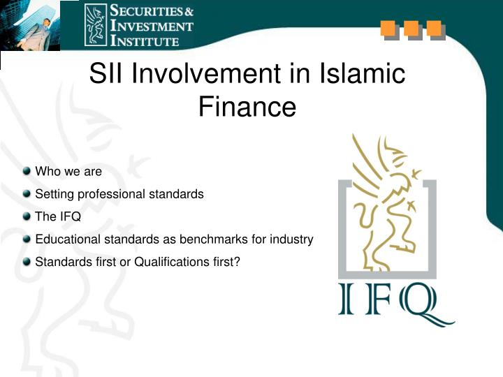 Sii involvement in islamic finance