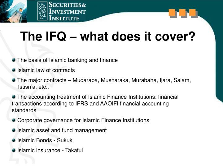 The IFQ – what does it cover?
