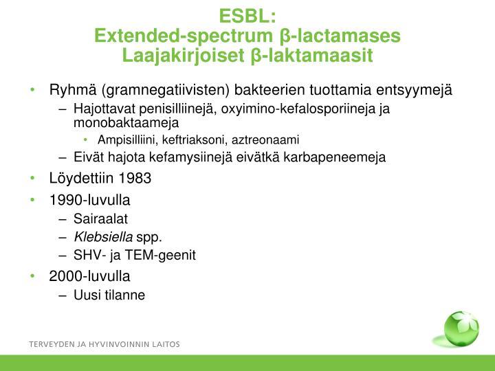 ESBL:
