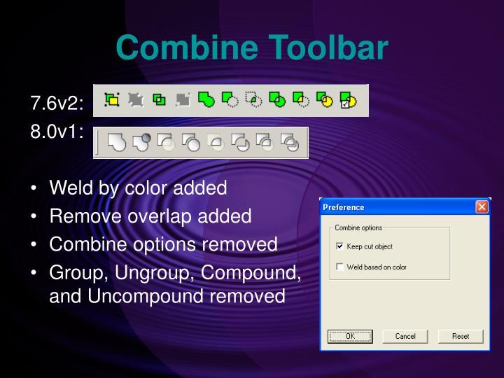 Combine Toolbar