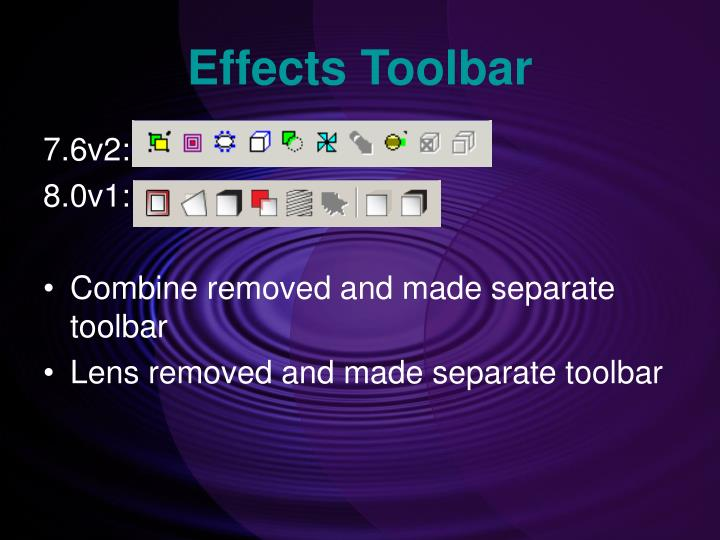 Effects Toolbar