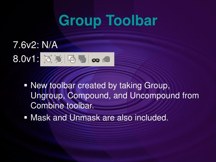 Group Toolbar