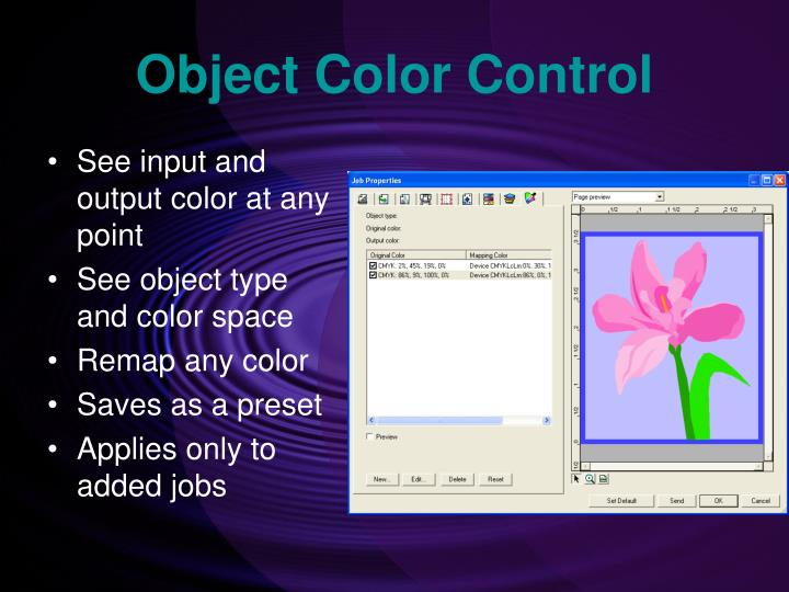 Object Color Control