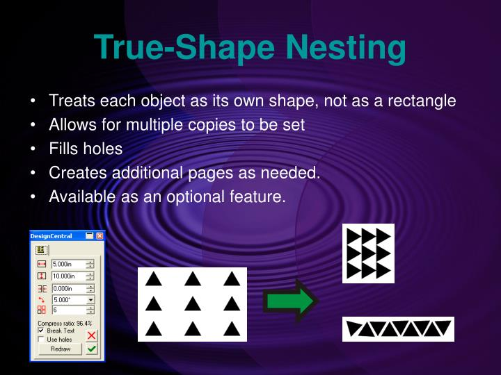 True-Shape Nesting