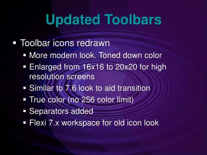 Updated Toolbars