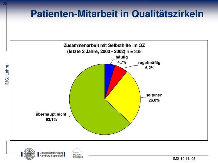 Patienten-Mitarbeit in Qualitätszirkeln