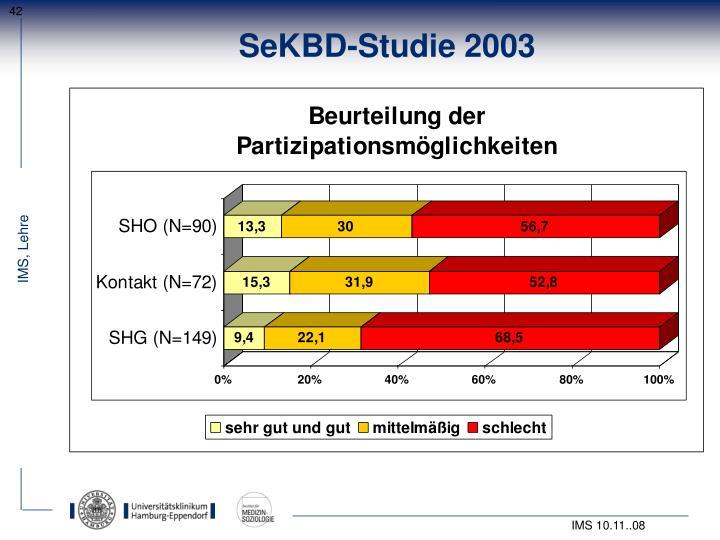 SeKBD-Studie 2003
