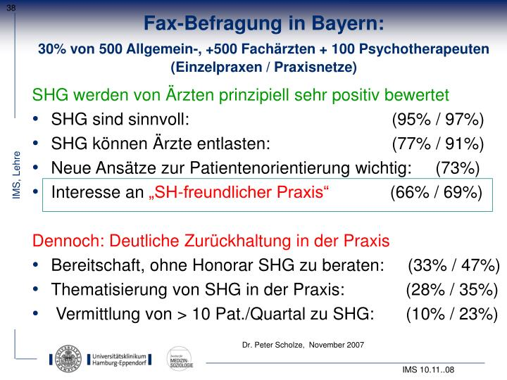 Fax-Befragung in Bayern: