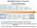 abridged history of cancer immunotherapy