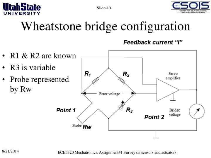 Wheatstone bridge configuration