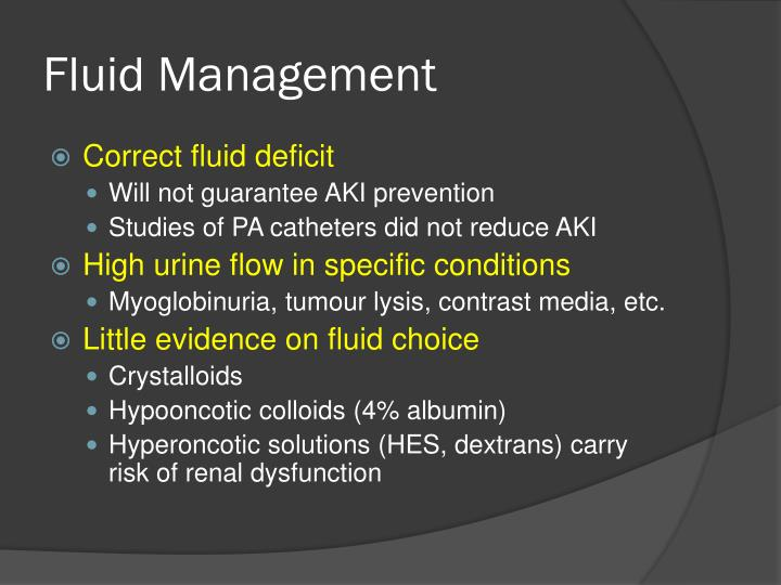 Fluid Management