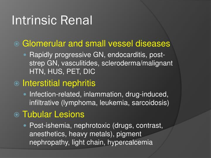 Intrinsic Renal