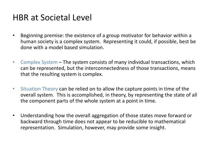 HBR at Societal Level
