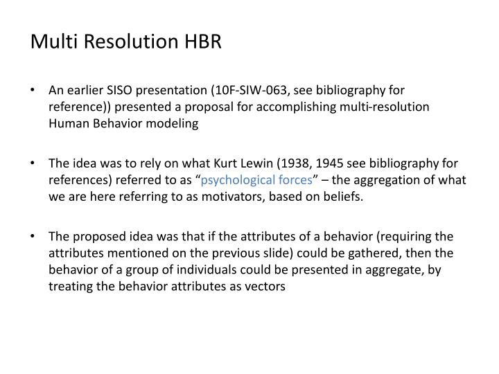 Multi Resolution HBR