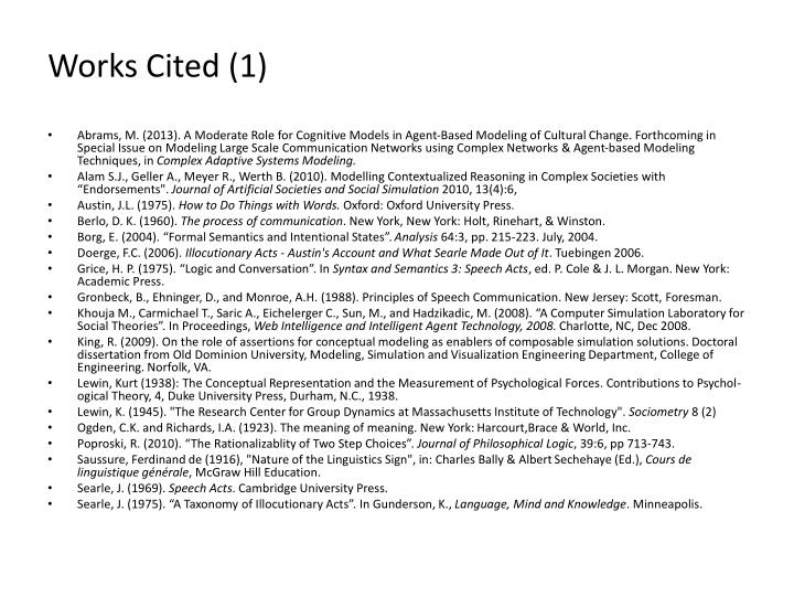 Works Cited (1)