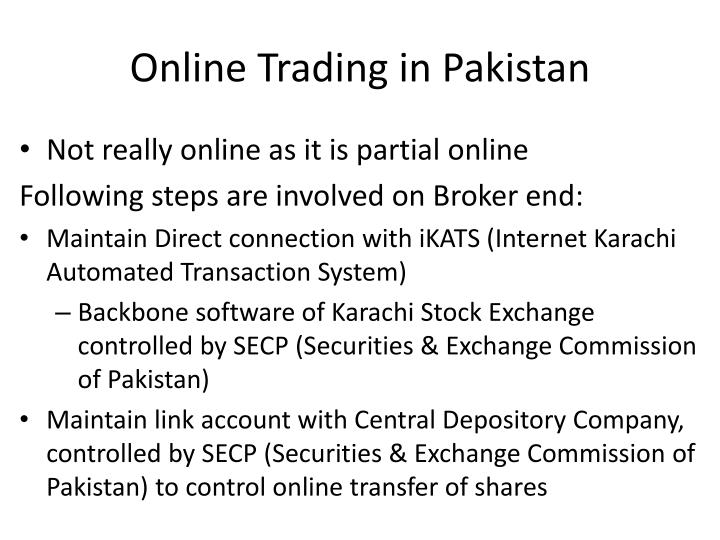 Online Trading in Pakistan
