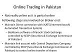 online trading in pakistan