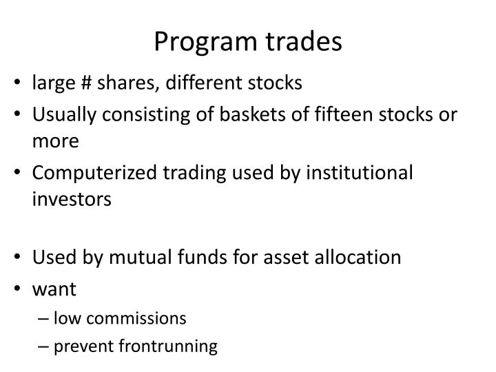 Program trades