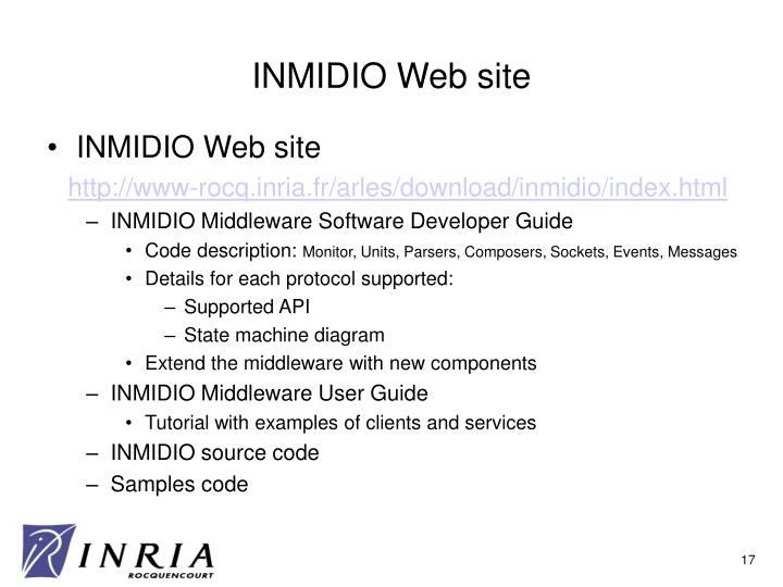INMIDIO Web site